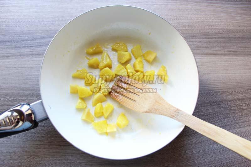 салат с ананасом и курицей фото