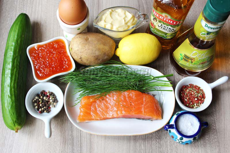 салат из морепродуктов морской коктейль рецепты
