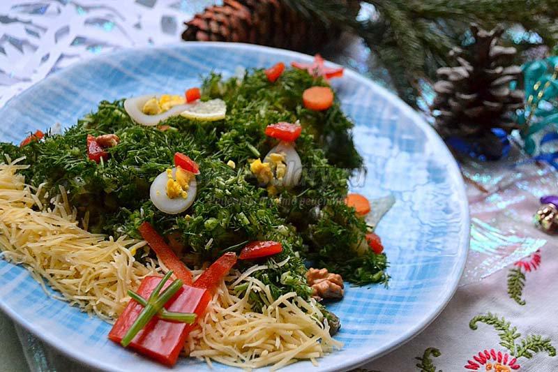 салат из морской капусты с кальмаром рецепт