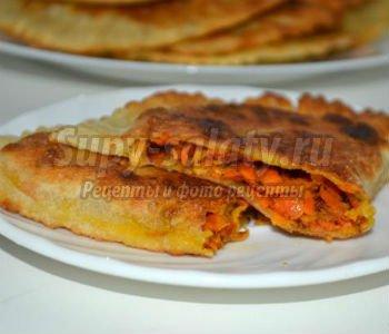 постные бездрожжевые пирожки с морковной начинкой