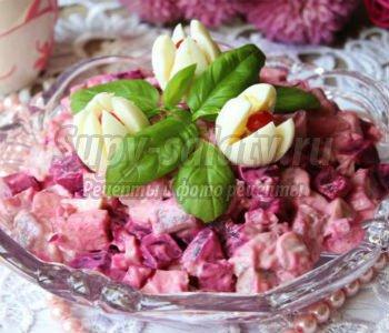 фото рецепт салат с соленой сельдью