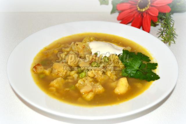 простой суп из цветной капусты рецепт с фото