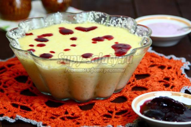 Творожный пудинг рецепт пошагово с фото