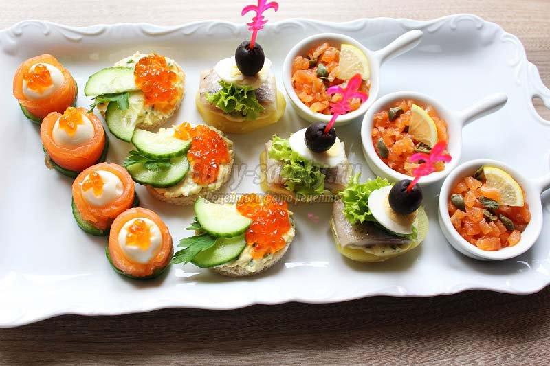 рецепты канапе с рыбой