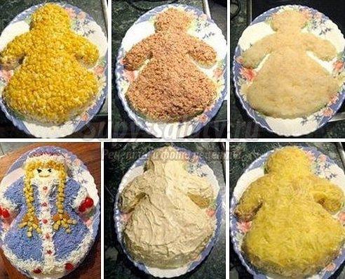 салат снегурочка рецепт фото