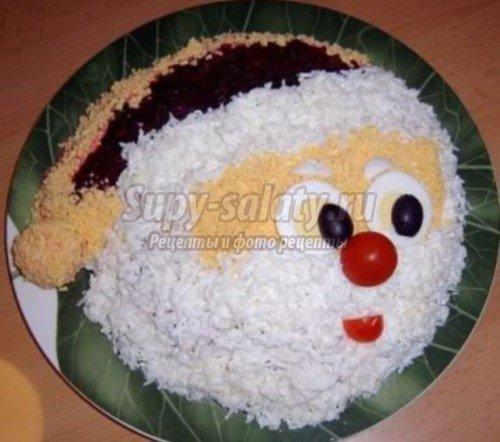 салат снеговик рецепты