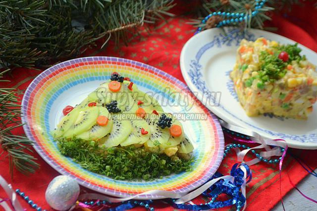 Оливье с шампиньонами рецепт с фото