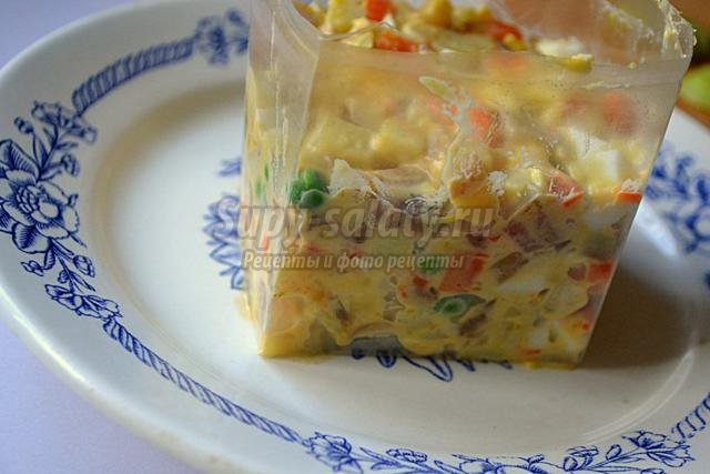 Салаты с кальмаром рецепты пошагово