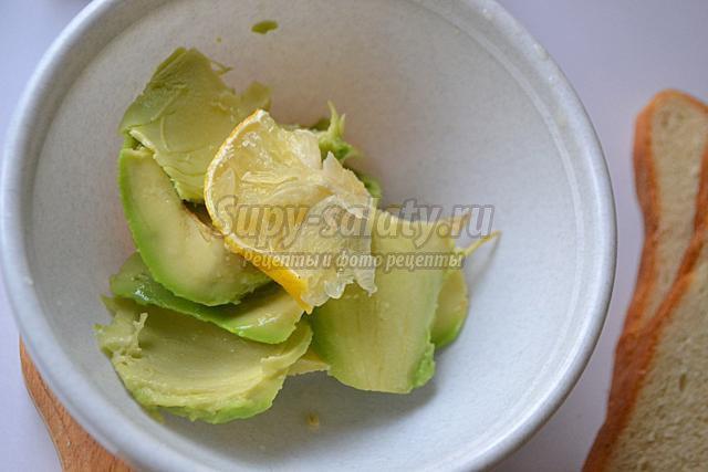 закусочный крем из авокадо и сёмги