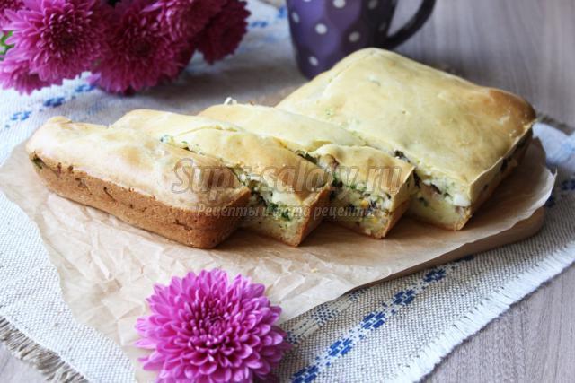 ленивый пирог с рыбной начинкой