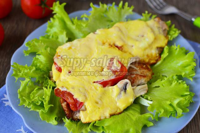 мясо по-французски рецепт с шампиньонами