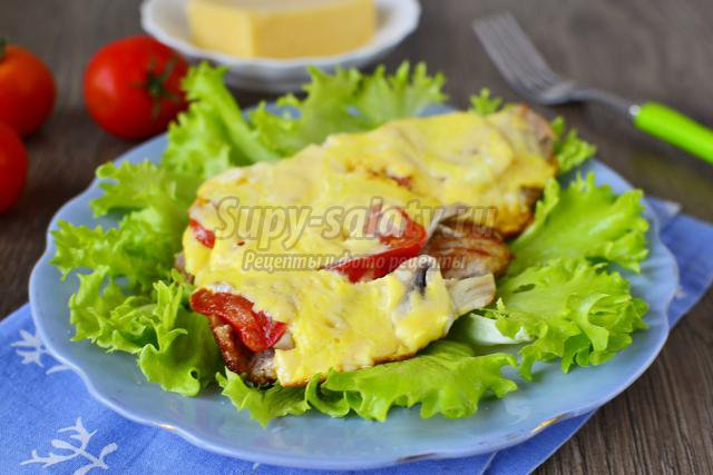 мясо с грибами и помидорами рецепт #10