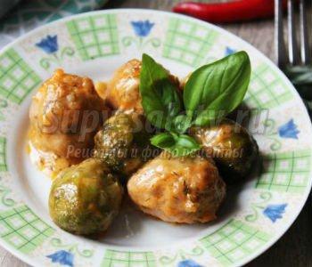 фрикадельки с брюссельской капустой в духовке