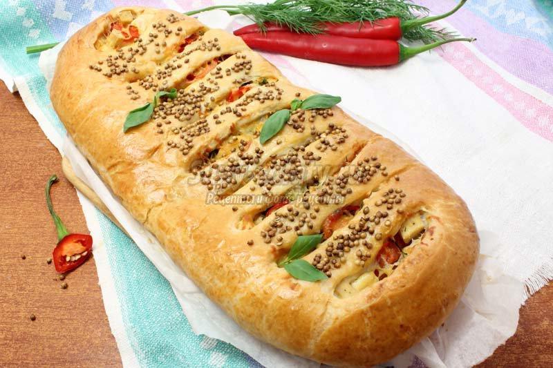 Пирог с сыром из дрожжевого теста рецепт