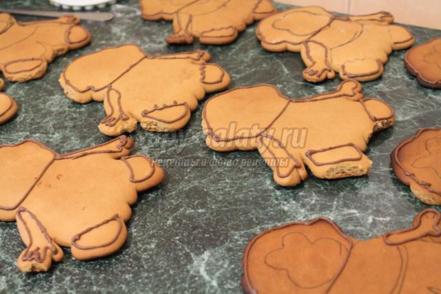 печенье с глазурью к Новому году