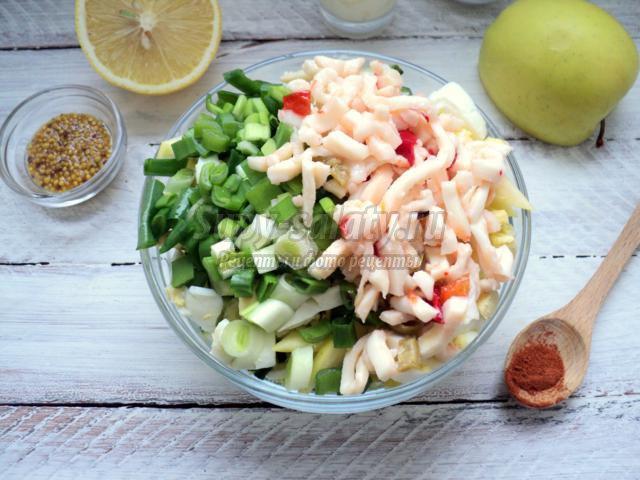 Салат классический с кальмарами рецепт с пошагово