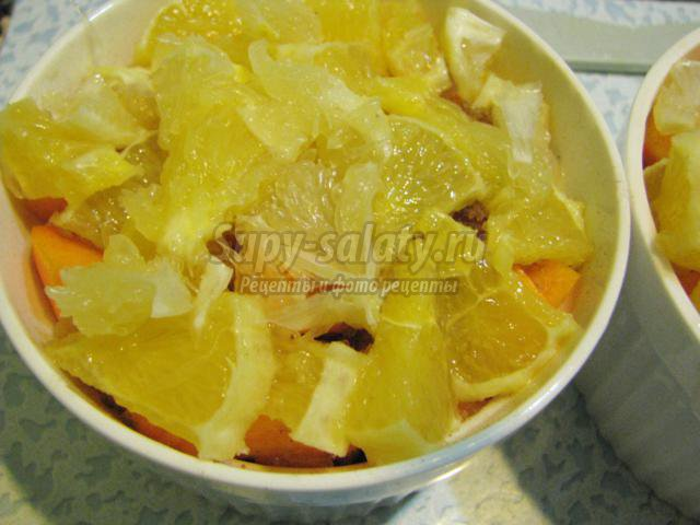 Тыква запеченная с апельсином рецепт