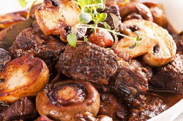 Говядины с грибами с фото