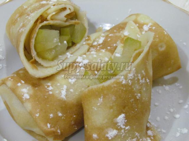 Банановые блины рецепт пошаговый с