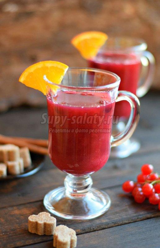 напиток из малины и клюквы