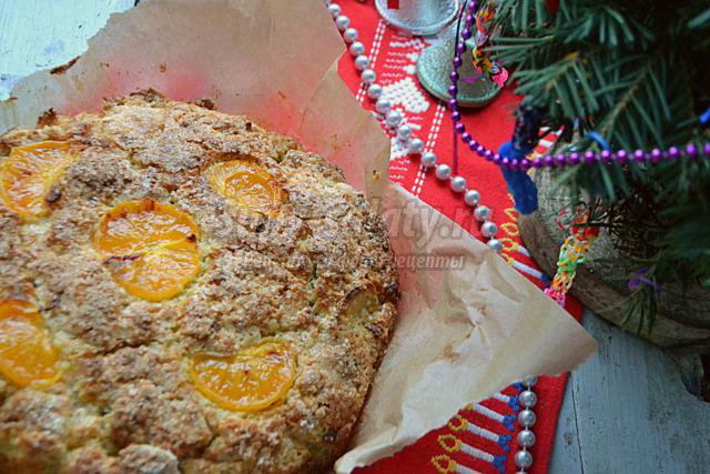 ирландский яблочный пирог с мандаринами на Рождество