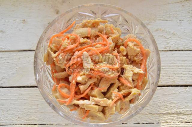 Салаты с ананасами и грибами рецепты с фото