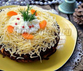 печёночно-тыквенный торт