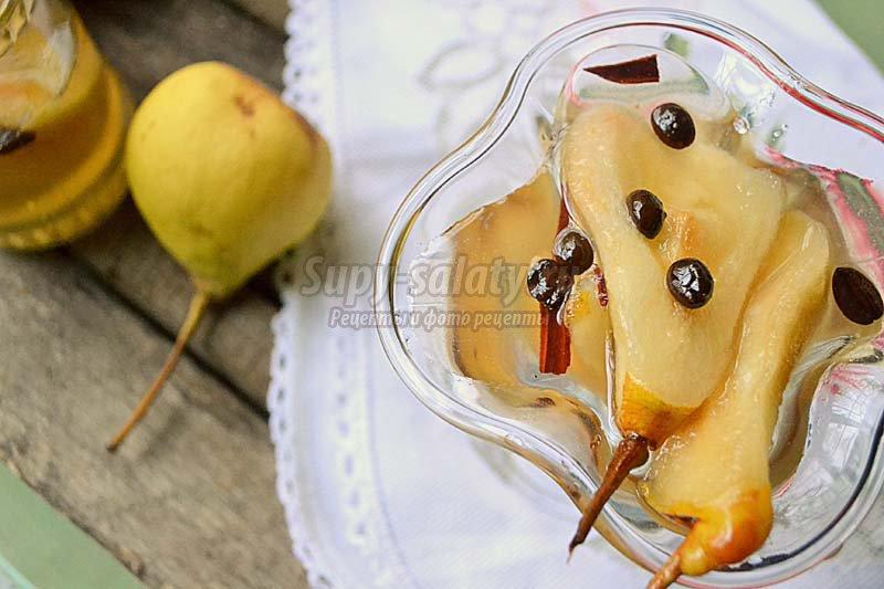груша в сиропе десерт