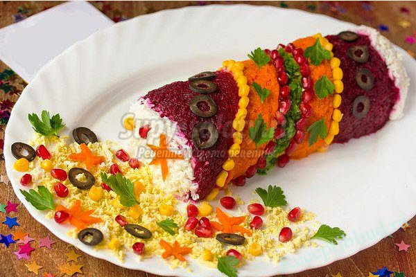 Красивые салаты праздничные