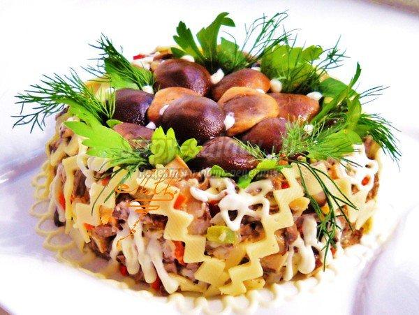 Простой салат с манго рецепт