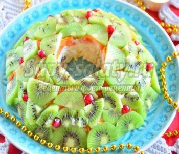 салат с сыром и киви. Малахитовый браслет