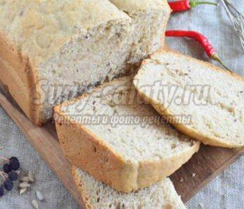 пшенично-ржаной хлеб с семечками в хлебопечке