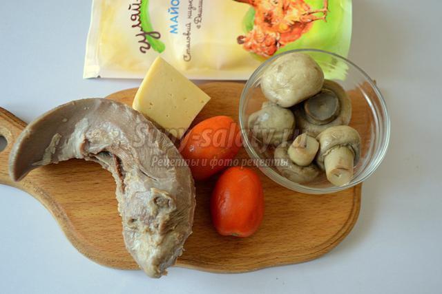 салат по-французски со свиным языком