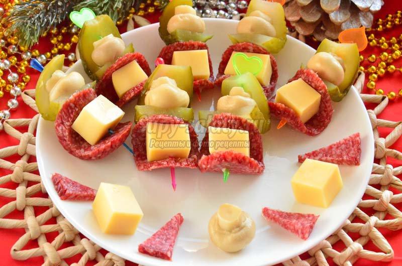 канапе с салями рецепты с фото