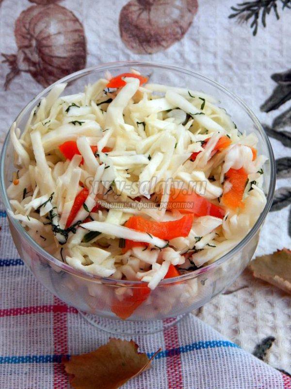рецепт салата из капусты и риса на зиму