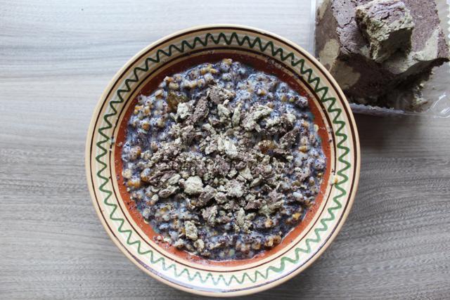 рождественская кутья из пшеницы с халвой