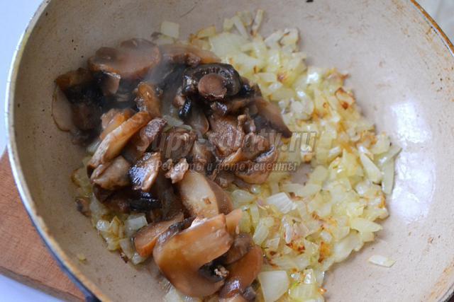 горячая закуска из лаваша с грибами