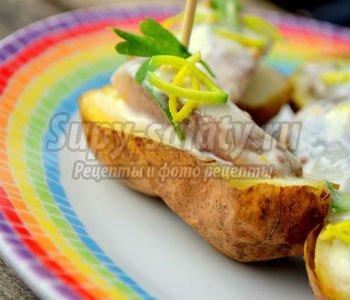 маринованная сельдь с печёным картофелем
