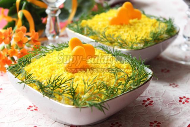 салат с грибами картошкой рецепт с фото