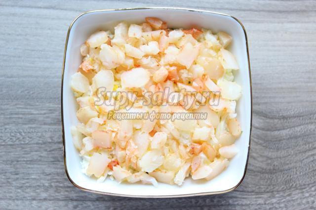 Мимоза рецепт с креветками