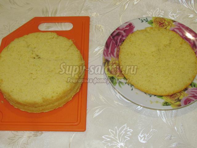 Легкий торт с заварным кремом рецепт с фото