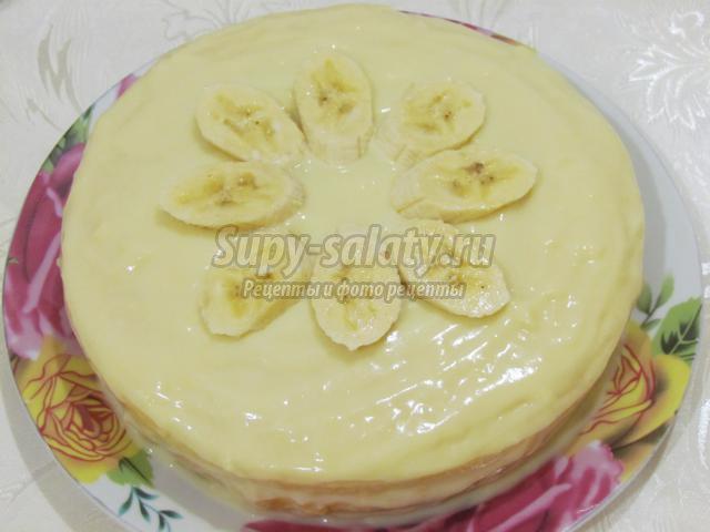 легкий торт с заварным кремом