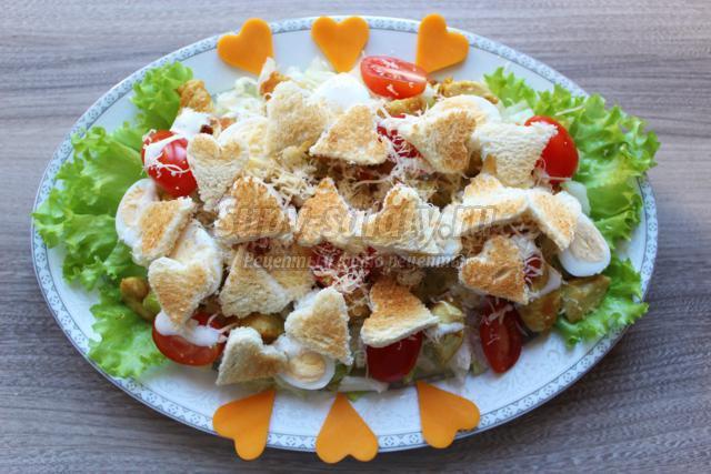 салат цезарь рецепт с пошаговым фото