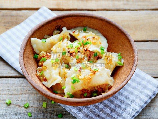 Вареники с картошкой и беконом, пошаговый рецепт с фото