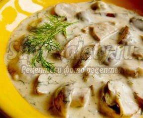 Тушеные грибы - полезно и вкусно
