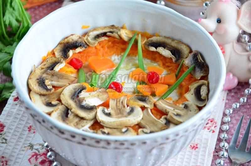слоеные салаты с курицей рецепты