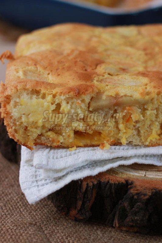 апельсиново-яблочный пирог