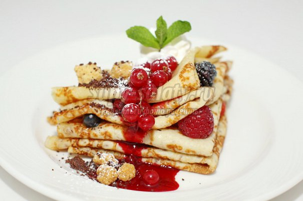 Блины с ягодами. Золотые рецепты с фото