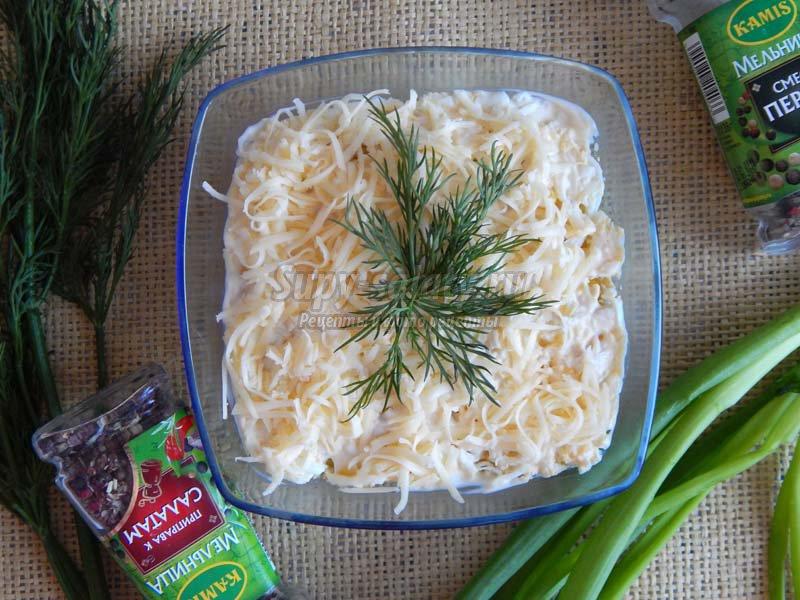 рецепт салат сардина кукуруза