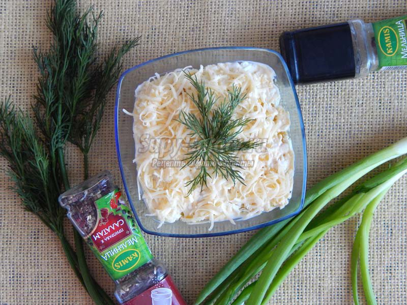 фото рецепт салата с сардиной в